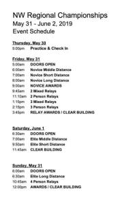 Regionals Pre Schedule