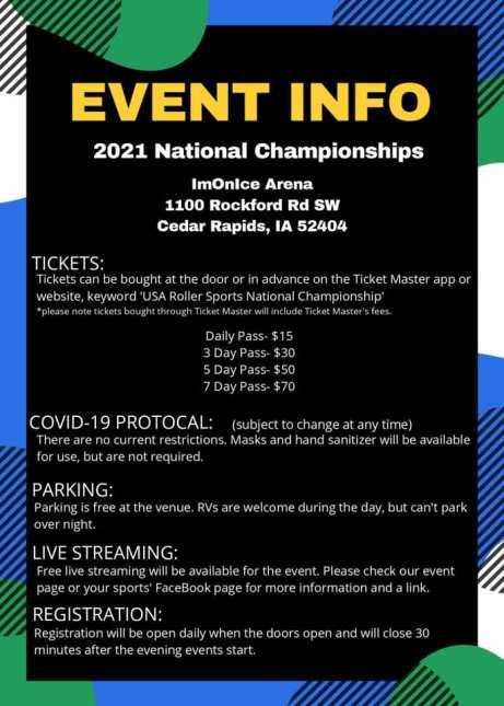 Indoor Nationals Event Info
